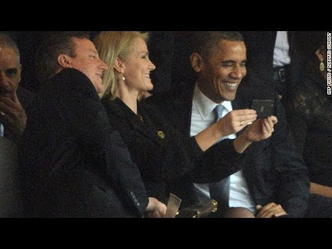 Barack Obama Takes Selfie at Nelson Mandela Funeral