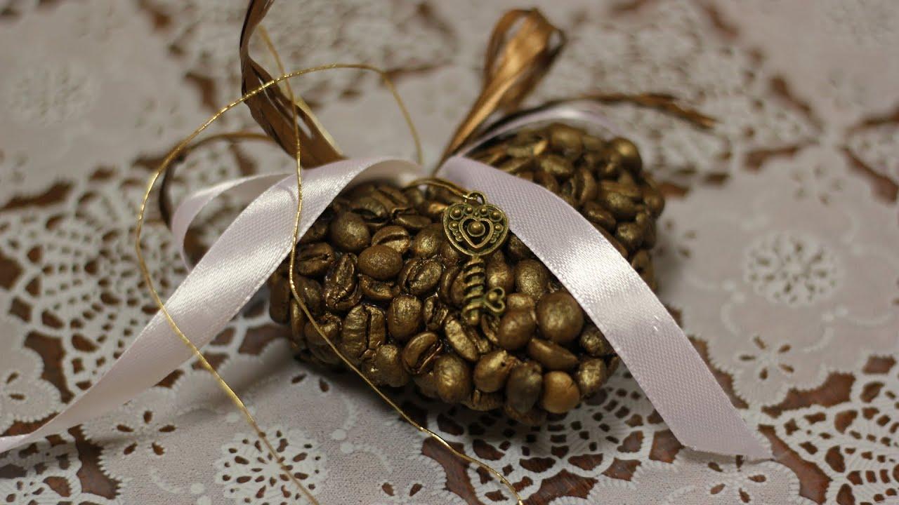 Мастер-класс сердце из кофейных зерен