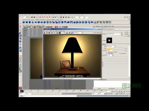Maya Tutorial:  Table Lamp - Part 4a (Lighting)