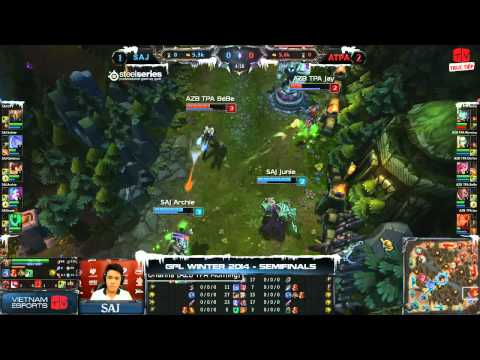 [GPL 2014 Mùa Đông] [Bán Kết 1] [Game 4] Azubu Taipei Assassins vs Saigon Jokers [18.12.2013]