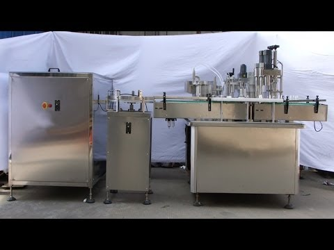 eye drops bottles filling capping labeling production line automatic pharmaceutical liquid filler