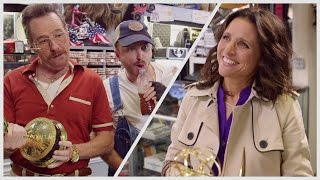 Julia Louis-Dreyfus Brings her Emmy to Bryan Cranston and Aaron Paul's Pawn Shop