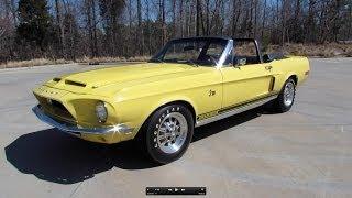 1968 Shelby Cobra GT500 KR Convertible Start Up, Exhaust