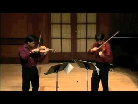 4th mov of Prokofiev Duo Sonata in C major- Nikki and Aaron-Timothy Chooi