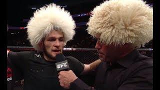 UFC 219: Khabib Nurmagomedov - Octagon Interview