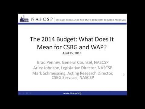 Webinar | The 2014 Budget: What does it mean for WAP and CSBG