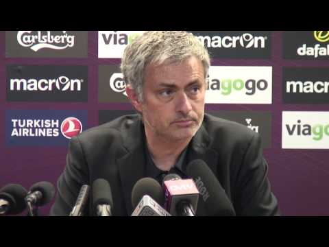 Jose Mourinho unhappy after Chelsea lose at Villa