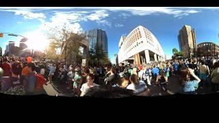 Ladybug3 daytime footage of a Vancouver Canucks crowd