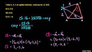 Skalarni produkt in računanje kota 3