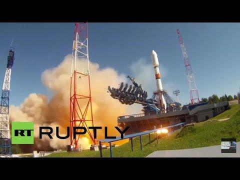 Notícias - Rússia: Foguete Soyuz-2.1B decola do Cosmódromo de Plesetsk levando satélite Glonass-M