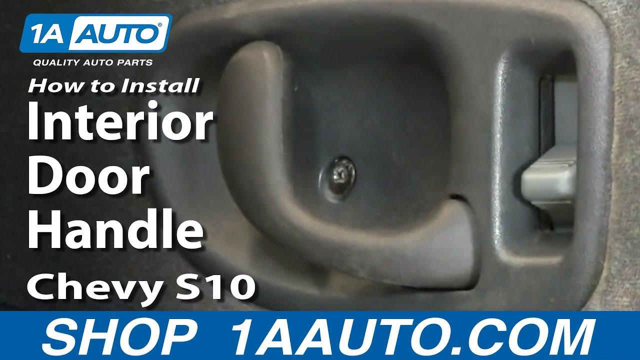 How to install interior door handle 2001 toyota corolla