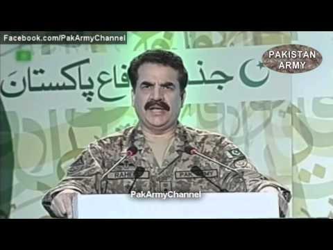 Gen Raheel (Pakistan Army Chief) Warning To India