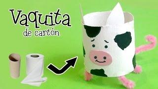 Como hacer una vaca de cartón