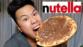 CRAZY NUTELLA PIZZA CHALLENGE!!