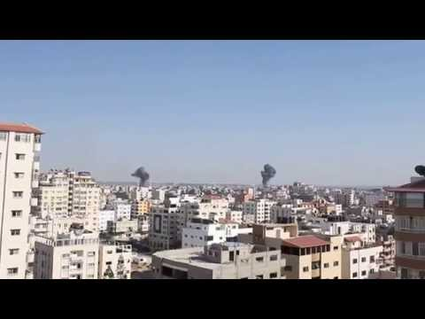 Israeli Airstrikes in Gaza City