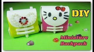 DIY Miniature Backpack | Cách làm Balo cho búp bê | Ami DIY