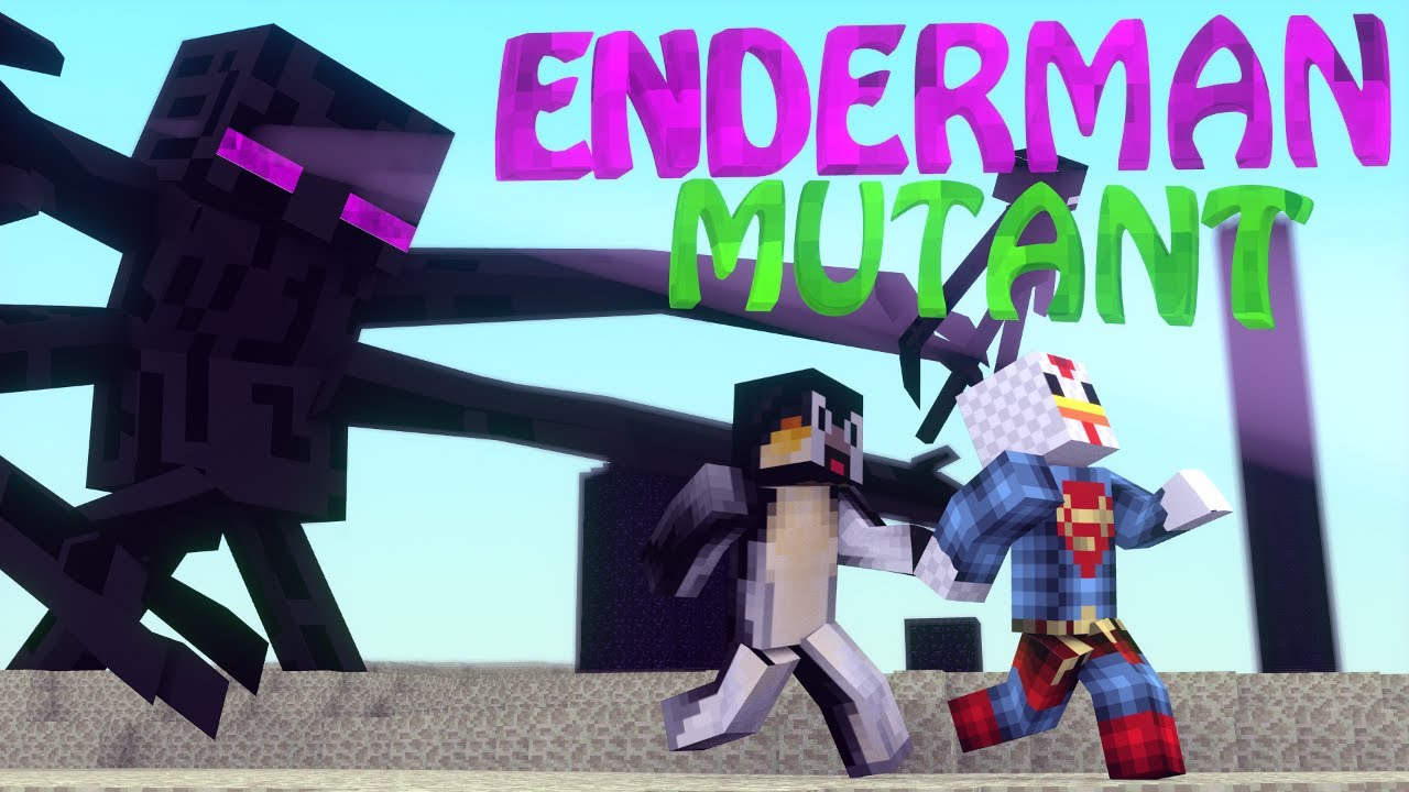 Minecraft Mutant Enderman Coloring Pages Enderman mod: minecraft ...
