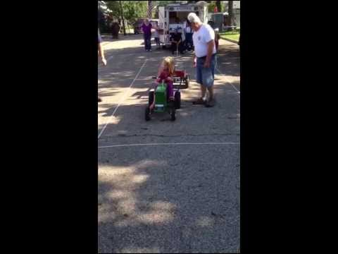 Avery's final tractor pull. The sled was 250 lbs.  she made 20 ft to finish 3 rd place