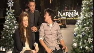 THE CHRONICLES OF NARNIA Interviews: Liam Neeson, Georgie