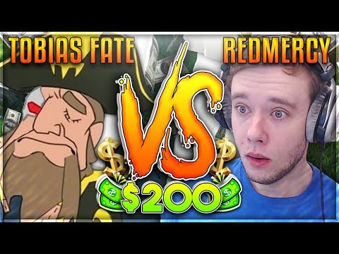REDMERCY VS TOBIAS FATE! $200 1v1 SHOWDOWN!! IT FINALLY HAPPENED - League of Legends