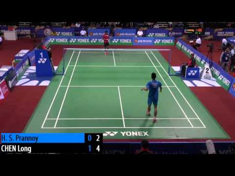 R32 - MS - CHEN Long vs Prannoy H.S. - 2014 India Badminton Open (F9-9)
