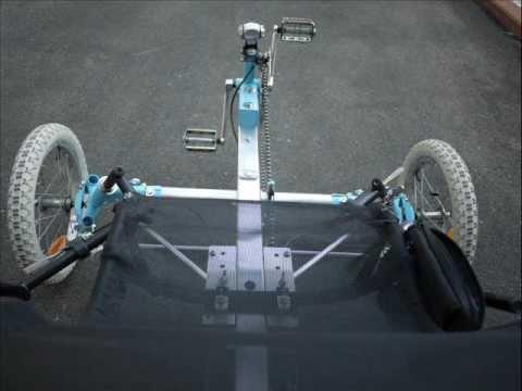 Recumbent trike - homemade, almost no welding