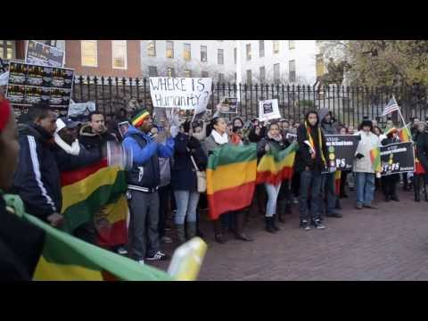 Where is Humanity? Ethiopians protest in Boston, MA against Saudi Arabia Human Rights Violation.