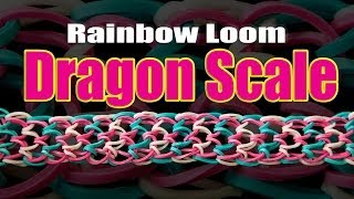 How To Make A Dragon Scale Bracelet- Rainbow Loom HD