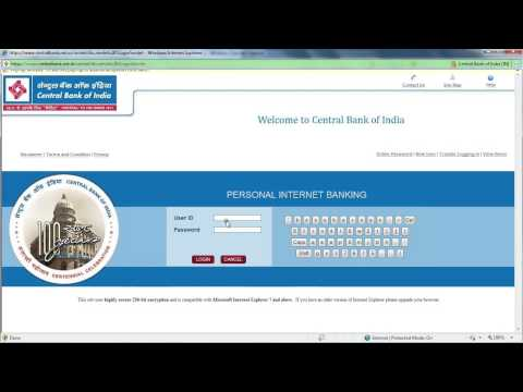 Central Bank of India online banking demo