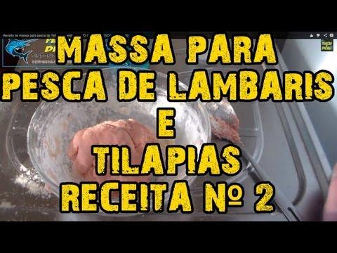 Receita de massa para pesca de Tilápia e Lambari NOVO SABOR [PESCAS & DICAS]