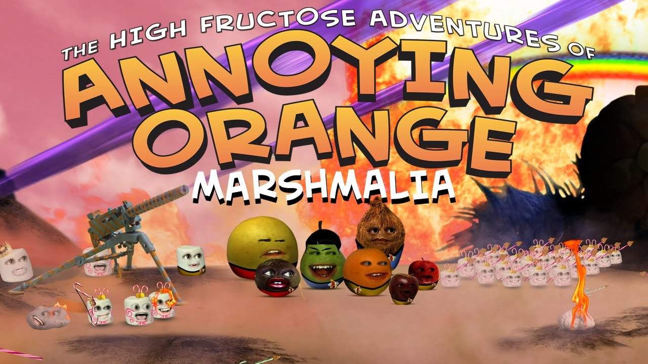 annoying orange season 1 episode 1 marshmalia youtube