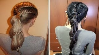 Carousel Winding Lace Braid Ponytail Hairstyle Hair