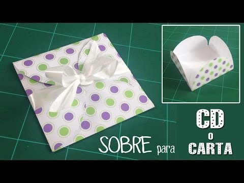 Sobre de papel para CD o carta original | Manualidades faciles