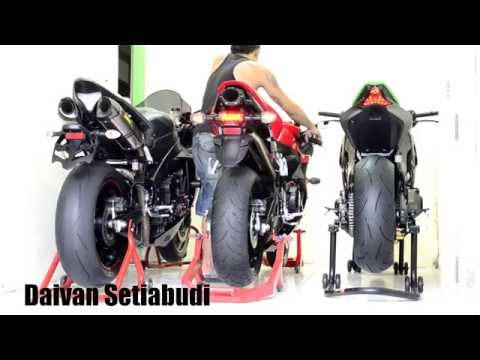 4 sounds of different motorcycles: Honda, Yamaha, Kawasaki, Suzuki