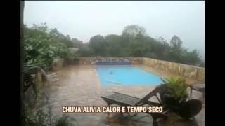 Chuva alivia calor e tempo seco em Belo Horizonte