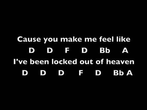 Locked Out Of Heaven Bruno Mars Notes