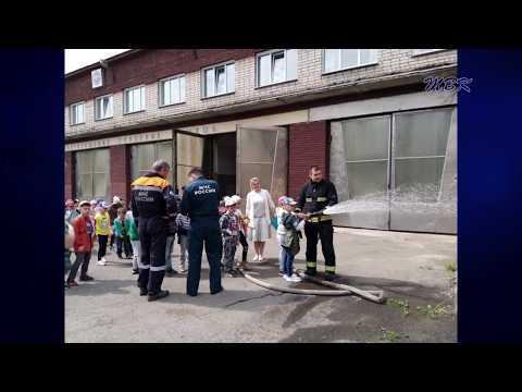 """Ребят из детского сада """"Кристаллик"""" познакомились с профессией пожарного"""