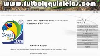 ORGANIZA UNA QUINIELA DEL BRASIL 2014 (Futbol Y Quinielas