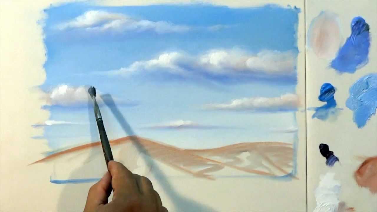 Como pintar nuvens passo a passo youtube - Como pintar sobre tela ...