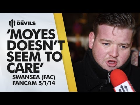 Moyes 'Doesn't Seem To Care' | Manchester United 1-2 Swansea City - FA Cup | FANCAM