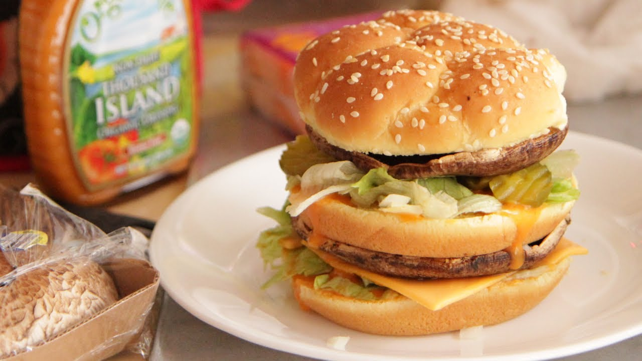 McDonalds Big Mac Burger Homemade Vegan-Vegetarian - YouTube