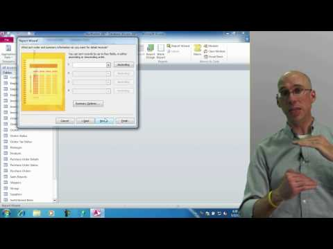 Creating a Report with the Report Wizard in Access 2010