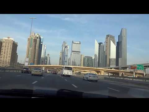 Dubai Driving  through downtown