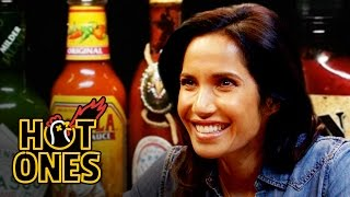 Padma Lakshmi Gracefully Destroys Spicy Wings | Hot Ones