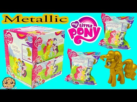 Metallic MLP Gold Pinkie Pie Surprise My Little Pony Blind Bag Box - Cookieswirlc Video