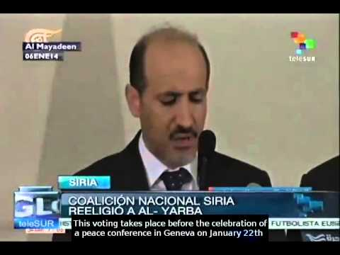 Syria opposition re-elects Ahmad al-Jarba as leader