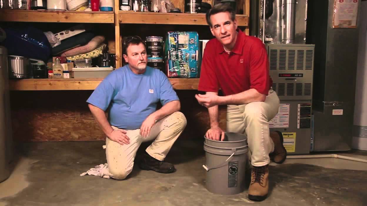 how to clean prep and coat a basement floor youtube