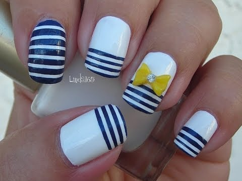 Nail Art -  Nautical Stripes