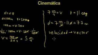 Cinemática Velocidad Y Rapidez Concepto Y Ejemplos (1