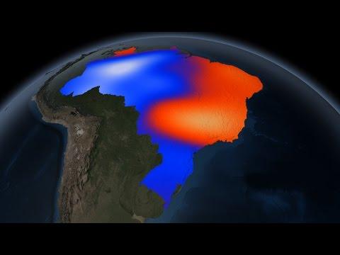 Vídeo Sudeste perdeu 56 trilhões de litros de água nos últimos três anos, diz Nasa